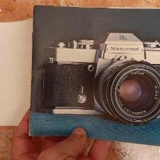 Cámara de fotos: ANTIGUO MANUAL CATALOGO CAMARA FOTOGRAFIA REFLEX NIKON NIKKORMAT EL FOTOGRAFICA. Lote 230775985