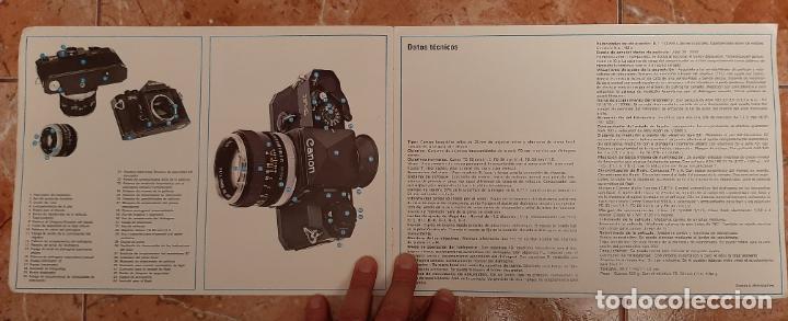 Cámara de fotos: ANTIGUO MANUAL CATALOGO CAMARA REFLEX FOTOGRAFIA CANON F-1 F1 SLR FOTOGRAFICA MAQUINA - Foto 2 - 230778445