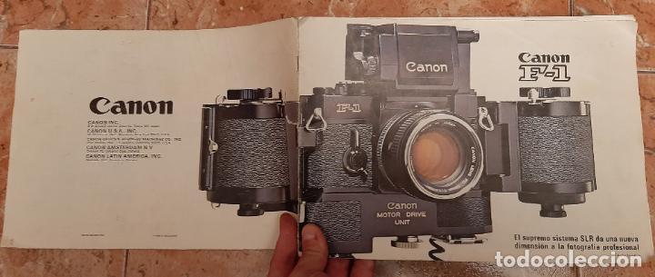 ANTIGUO MANUAL CATALOGO CAMARA REFLEX FOTOGRAFIA CANON F-1 F1 SLR FOTOGRAFICA MAQUINA (Cámaras Fotográficas - Catálogos, Manuales y Publicidad)