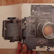 Cámara de fotos: ANTIGUO MANUAL CATALOGO CAMARA REFLEX FOTOGRAFIA CANON F-1 F1 SLR FOTOGRAFICA MAQUINA. Lote 230778445