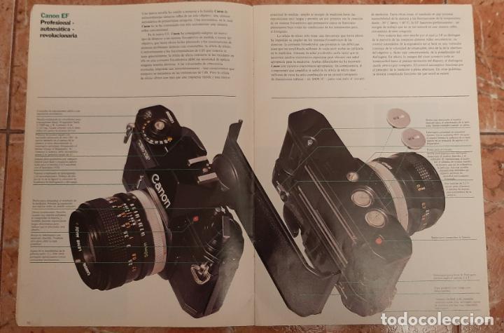 Cámara de fotos: ANTIGUO MANUAL CATALOGO CAMARA REFLEX FOTOGRAFIA CANON F1 EF FTB TLB EX EX AUTO FOTOGRAFICA MAQUINA - Foto 2 - 230779550