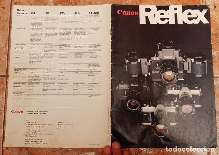 ANTIGUO MANUAL CATALOGO CAMARA REFLEX FOTOGRAFIA CANON F1 EF FTB TLB EX EX AUTO FOTOGRAFICA MAQUINA (Cámaras Fotográficas - Catálogos, Manuales y Publicidad)
