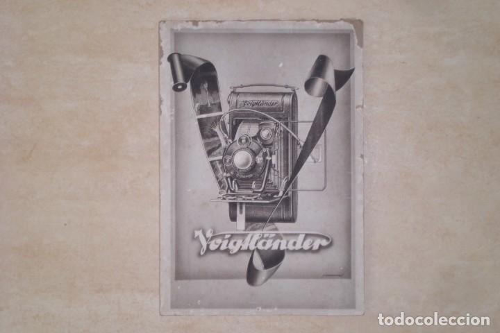 Cámara de fotos: PRECIOSO CARTEL DE VOIGTLANDER, AÑOS 30 - ORIGINAL CARTON GRUESO - Foto 2 - 231073350