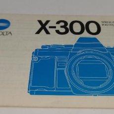 Cámara de fotos: MANUAL DE INSTRUCCIONES MINOLTA X-300. Lote 231287175