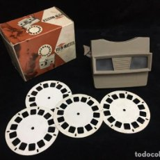 Cámara de fotos: VISOR VIEW - MASTER SAWYERS C/CAJA ORIGINAL Y DISCOS MADE IN BELGIUM. Lote 231626215