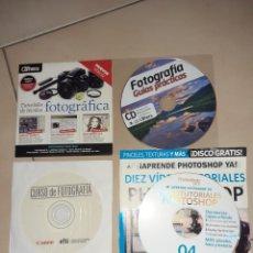 Cámara de fotos: 4 CDS DE CURSOS DE FOTOGRAFIA. Lote 231751735