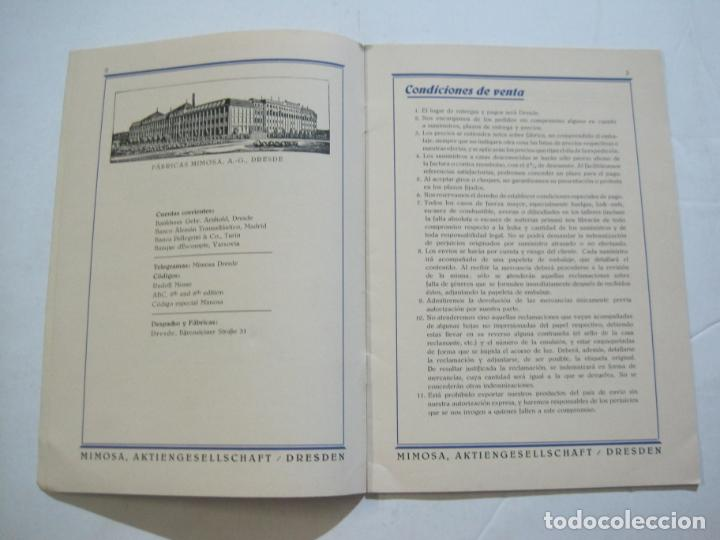 Cámara de fotos: PAPELES FOTOGRAFICOS MIMOSA-CATALOGO 857-PUBLICIDAD DE FOTOGRAFIA-VER FOTOS-(K-1526) - Foto 3 - 233159365