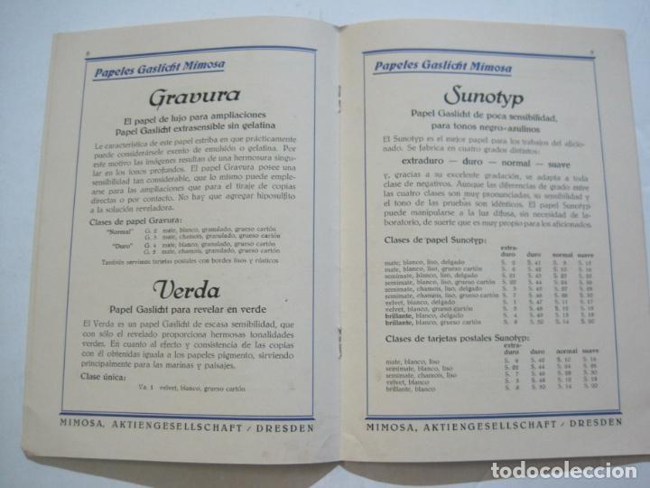 Cámara de fotos: PAPELES FOTOGRAFICOS MIMOSA-CATALOGO 857-PUBLICIDAD DE FOTOGRAFIA-VER FOTOS-(K-1526) - Foto 5 - 233159365