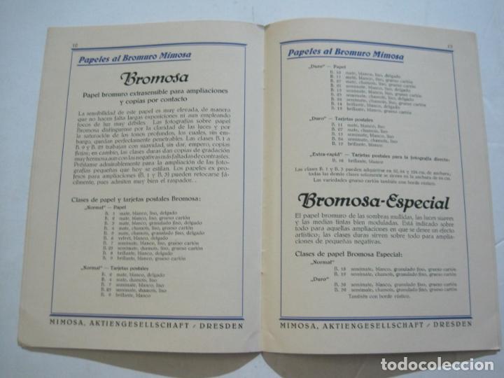 Cámara de fotos: PAPELES FOTOGRAFICOS MIMOSA-CATALOGO 857-PUBLICIDAD DE FOTOGRAFIA-VER FOTOS-(K-1526) - Foto 7 - 233159365