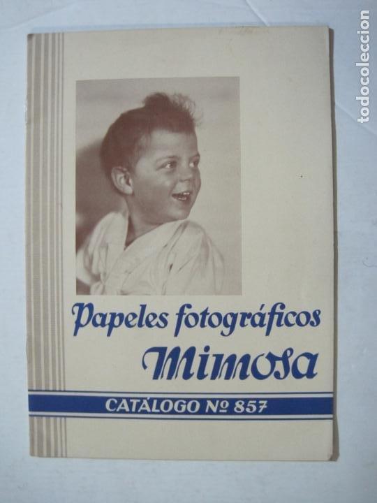 PAPELES FOTOGRAFICOS MIMOSA-CATALOGO 857-PUBLICIDAD DE FOTOGRAFIA-VER FOTOS-(K-1526) (Cámaras Fotográficas - Catálogos, Manuales y Publicidad)