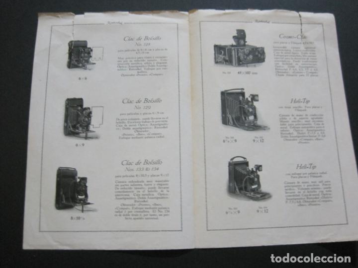 Cámara de fotos: RIETZCHEL-APARATOS DE FAMA MUNDIAL-CATALOGO PUBLICIDAD DE FOTOGRAFIA-VER FOTOS-(K-1533) - Foto 5 - 233160660
