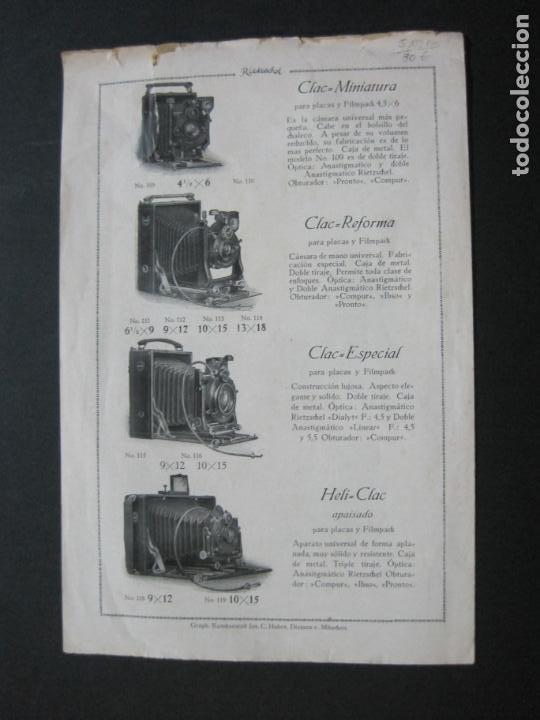 Cámara de fotos: RIETZCHEL-APARATOS DE FAMA MUNDIAL-CATALOGO PUBLICIDAD DE FOTOGRAFIA-VER FOTOS-(K-1533) - Foto 8 - 233160660