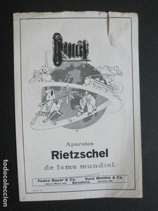 RIETZCHEL-APARATOS DE FAMA MUNDIAL-CATALOGO PUBLICIDAD DE FOTOGRAFIA-VER FOTOS-(K-1533) (Cámaras Fotográficas - Catálogos, Manuales y Publicidad)