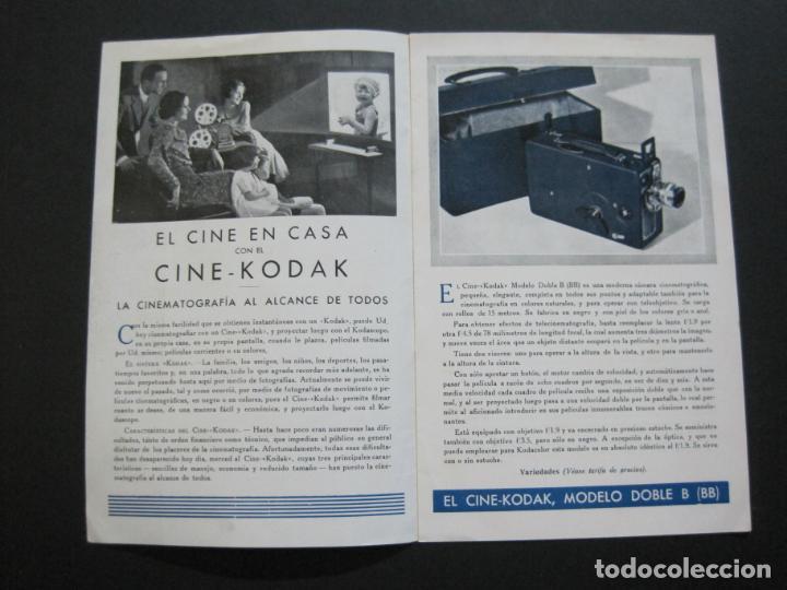 Cámara de fotos: CINE KODAK-EL CINE EN EL HOGAR-CATALOGO PUBLICIDAD DE FOTOGRAFIA-VER FOTOS-(K-1534) - Foto 2 - 233160885