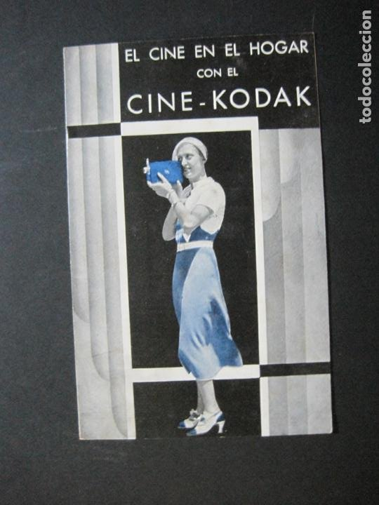 CINE KODAK-EL CINE EN EL HOGAR-CATALOGO PUBLICIDAD DE FOTOGRAFIA-VER FOTOS-(K-1534) (Cámaras Fotográficas - Catálogos, Manuales y Publicidad)