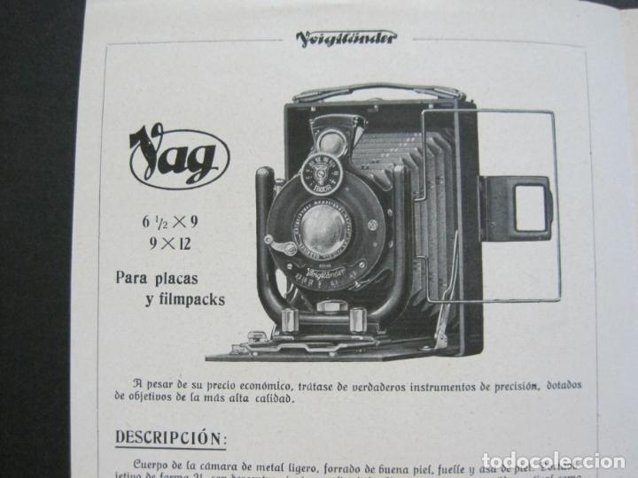Cámara de fotos: VOIGTLÄNDER-STEREFLEKTOSKOP-CATALOGO PUBLICIDAD DE FOTOGRAFIA-VER FOTOS-(K-1540) - Foto 3 - 233162485