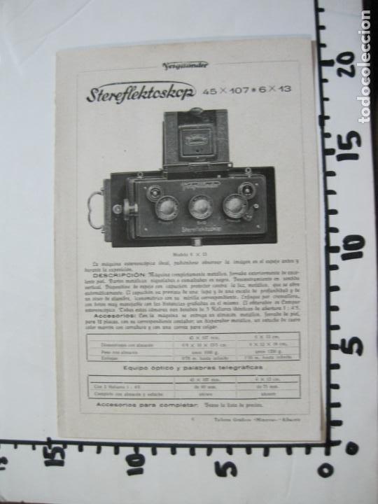 Cámara de fotos: VOIGTLÄNDER-STEREFLEKTOSKOP-CATALOGO PUBLICIDAD DE FOTOGRAFIA-VER FOTOS-(K-1540) - Foto 8 - 233162485