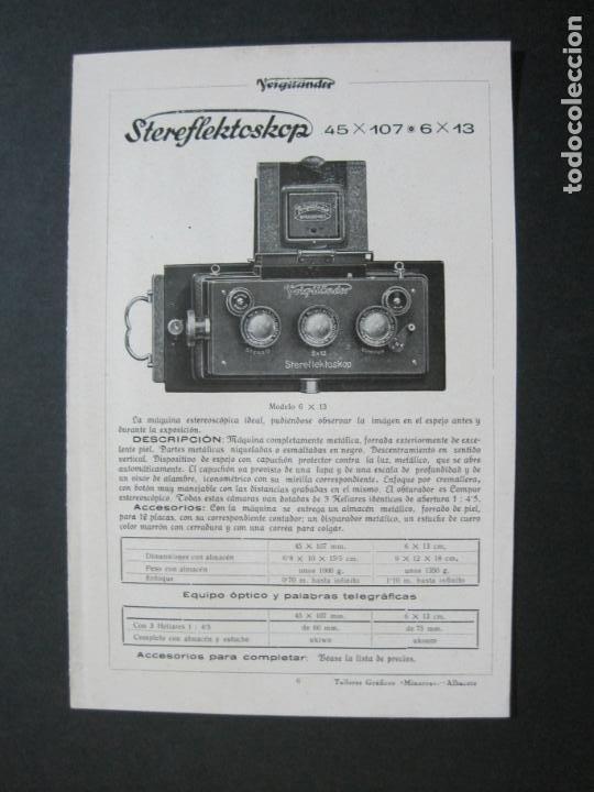 VOIGTLÄNDER-STEREFLEKTOSKOP-CATALOGO PUBLICIDAD DE FOTOGRAFIA-VER FOTOS-(K-1540) (Cámaras Fotográficas - Catálogos, Manuales y Publicidad)