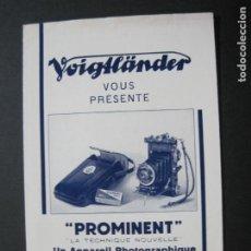 Cámara de fotos: VOIGTLÄNDER-PROMINENT-CATALOGO PUBLICIDAD DE FOTOGRAFIA-VER FOTOS-(K-1541). Lote 233162660