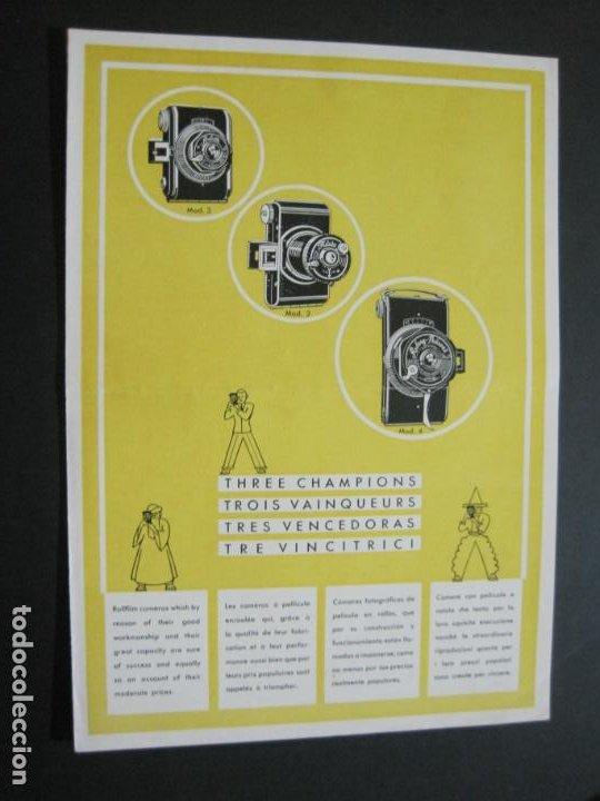 RUBETTE-RUBERG FUTURO & PRÄSENT-CATALOGO PUBLICIDAD DE FOTOGRAFIA-VER FOTOS-(K-1542) (Cámaras Fotográficas - Catálogos, Manuales y Publicidad)