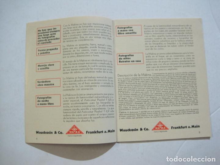 Cámara de fotos: MAKINA-LA CAMARA PRECIOSA PARA TRABAJOS DE CALIDAD-CATALOGO PUBLICIDAD FOTOGRAFIA-VER FOTOS-(K-1552) - Foto 2 - 233165625