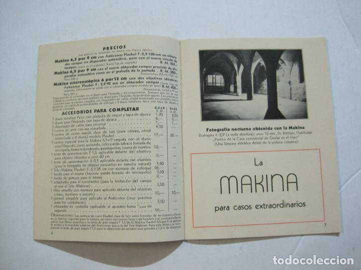 Cámara de fotos: MAKINA-LA CAMARA PRECIOSA PARA TRABAJOS DE CALIDAD-CATALOGO PUBLICIDAD FOTOGRAFIA-VER FOTOS-(K-1552) - Foto 4 - 233165625