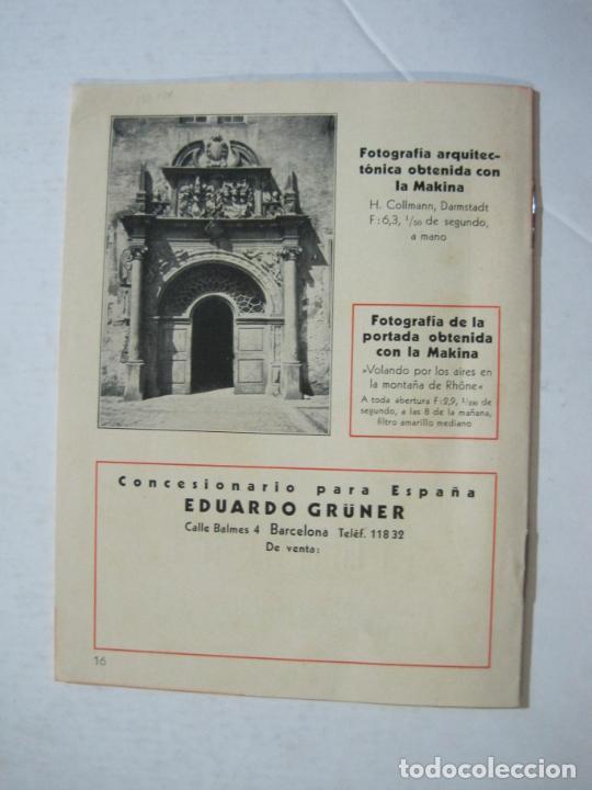 Cámara de fotos: MAKINA-LA CAMARA PRECIOSA PARA TRABAJOS DE CALIDAD-CATALOGO PUBLICIDAD FOTOGRAFIA-VER FOTOS-(K-1552) - Foto 10 - 233165625