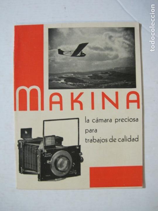 MAKINA-LA CAMARA PRECIOSA PARA TRABAJOS DE CALIDAD-CATALOGO PUBLICIDAD FOTOGRAFIA-VER FOTOS-(K-1552) (Cámaras Fotográficas - Catálogos, Manuales y Publicidad)