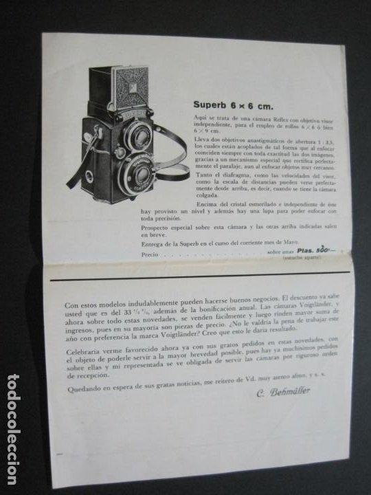 Cámara de fotos: BARCELONA-FOTOGRAFIA C.BEHMÜLLER-VOIGTLÄNDER-1933-CATALOGO PUBLICIDAD FOTOGRAFIA-VER FOTOS-(K-1556) - Foto 5 - 233301740