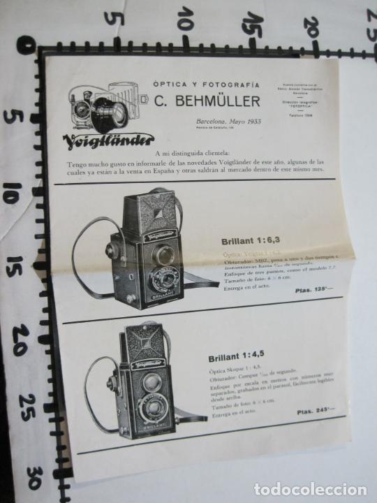 Cámara de fotos: BARCELONA-FOTOGRAFIA C.BEHMÜLLER-VOIGTLÄNDER-1933-CATALOGO PUBLICIDAD FOTOGRAFIA-VER FOTOS-(K-1556) - Foto 7 - 233301740