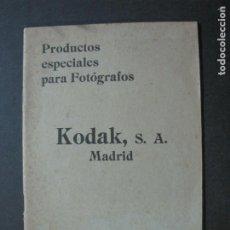 Cámara de fotos: KODAK S.A. MADRID-PRODUCTOS FOTOGRAFICOS-1922 1923-CATALOGO PUBLICIDAD FOTOGRAFIA-VER FOTOS-(K-1557). Lote 233302095