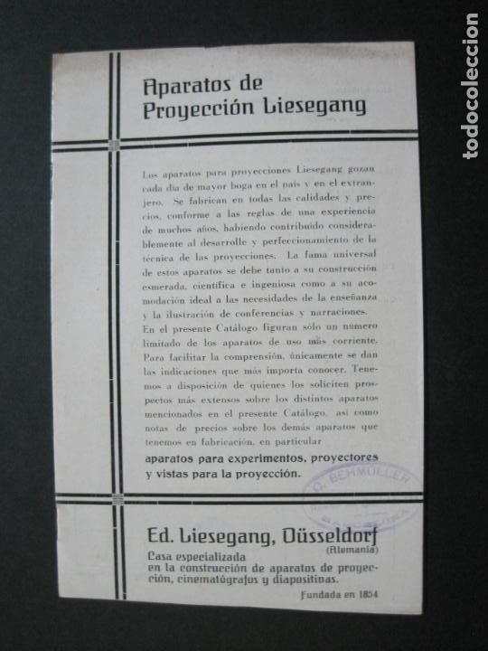 Cámara de fotos: APARATOS DE PROYECCION LIESEGANG-CATALOGO PUBLICIDAD FOTOGRAFIA-VER FOTOS-(K-1559) - Foto 2 - 233302985