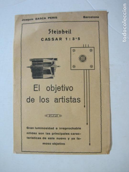 BARCELONA-JOAQUIN GASCA PERIS-STEINHEIL-OBJETIVO-CATALOGO PUBLICIDAD FOTOGRAFIA-VER FOTOS-(K-1561) (Cámaras Fotográficas - Catálogos, Manuales y Publicidad)