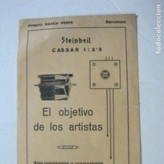 Cámara de fotos: BARCELONA-JOAQUIN GASCA PERIS-STEINHEIL-OBJETIVO-CATALOGO PUBLICIDAD FOTOGRAFIA-VER FOTOS-(K-1561). Lote 233304145