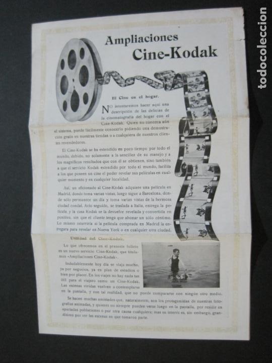 KODAK-AMPLIACIONES CINE KODAK-CATALOGO PUBLICIDAD FOTOGRAFIA-VER FOTOS-(K-1564) (Cámaras Fotográficas - Catálogos, Manuales y Publicidad)