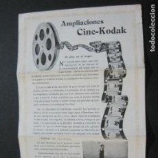 Cámara de fotos: KODAK-AMPLIACIONES CINE KODAK-CATALOGO PUBLICIDAD FOTOGRAFIA-VER FOTOS-(K-1564). Lote 233305590