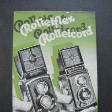 Cámara de fotos: ROLLEIFLEX & ROLLEICORD-CATALOGO PUBLICIDAD FOTOGRAFIA-VER FOTOS-(K-1570). Lote 233308225