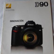 Cámara de fotos: NIKON CATALOGO D90 INNOVACION. Lote 233741895