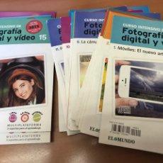 Cámara de fotos: CURSO CD ROM FOTOGRAFÍA DIGITAL DEL 1 AL 19 , FALTA EL 14. Lote 234623935