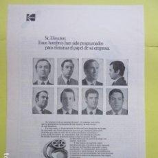 Cámara de fotos: PUBLICIDAD 1973 - KODAK. Lote 235081540