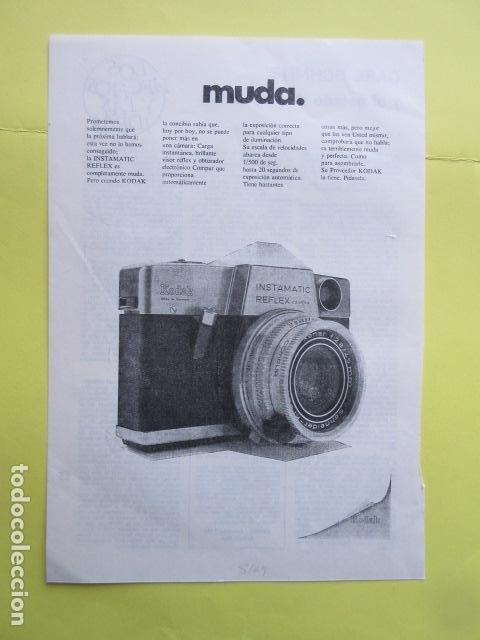 PUBLICIDAD 1969 - KODAK INSTAMATIC REFLEX (Cámaras Fotográficas - Catálogos, Manuales y Publicidad)
