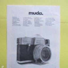 Cámara de fotos: PUBLICIDAD 1969 - KODAK INSTAMATIC REFLEX. Lote 235081690