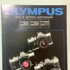 Cámara de fotos: CATALOGO CAMARA DE FOTOS OLYMPUS OM 30 20 10 OM20 OM30 OM10 DE 1985. Lote 235089335