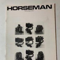 Cámara de fotos: CATALOGO CAMARA DE FOTOS KOMAMURA HORSEMAN DE 1989. Lote 235090095