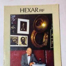 Cámara de fotos: CATALOGO CAMARA DE FOTOS HEXAR RF KONICA DE 1999. Lote 235090470