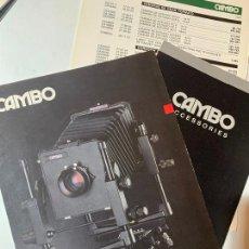 Cámara de fotos: LOTE CATALOGO CAMARA DE FOTOS CAMBO LEGEND DE 1988. Lote 235090885