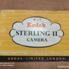 Cámara de fotos: ANTIGUO CATALOGO DE CAMARA DE FOTOS, KODAK STARLING II, INSTRUCCIONES. Lote 235303805