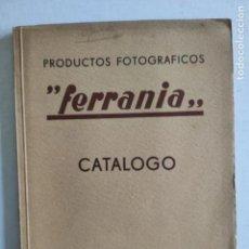 """Cámara de fotos: CATÁLOGO - PRODUCTOS FOTOGRÁFICOS """"FERRANIA"""" - AÑO 1939. Lote 235846570"""