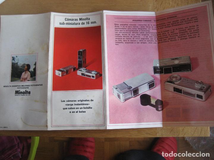 Cámara de fotos: Minolta. Sub- miniatura de 16 mm. Desplegable a 4 de 38 x 21 cms. - Foto 2 - 236299955