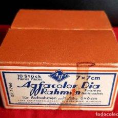 Cámara de fotos: AGFACOLOR CAJA CON 10 MARCOS DIAPOSITIVAS 6 X 6 CM,. Lote 236538445